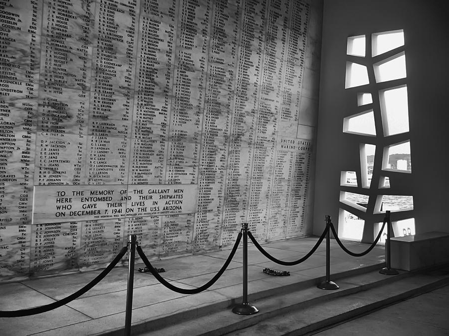 Battleship Arizona Memorial Wall - Pearl Harbor Hawaii Photograph  - Battleship Arizona Memorial Wall - Pearl Harbor Hawaii Fine Art Print