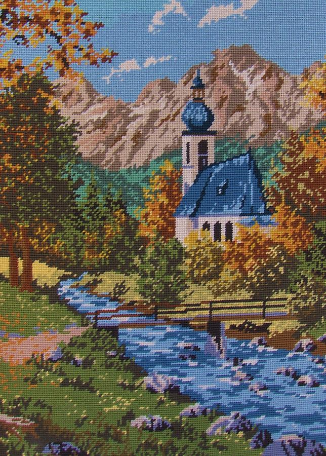 Bavarian Country Tapestry - Textile  - Bavarian Country Fine Art Print