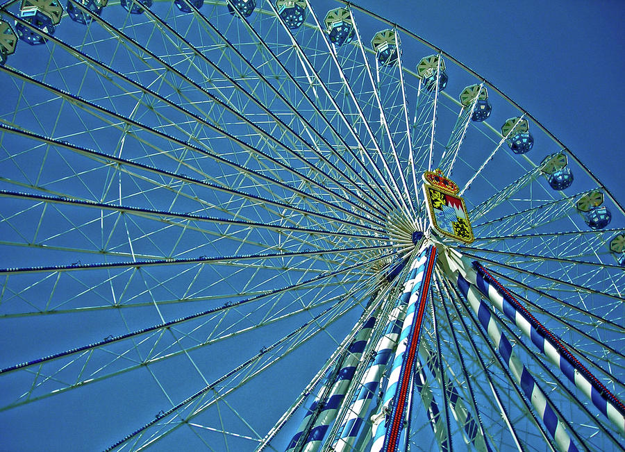 Bavarian Fairy Wheel Photograph  - Bavarian Fairy Wheel Fine Art Print