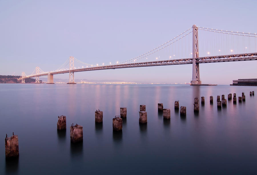 Bay Bridge And Pilings Photograph