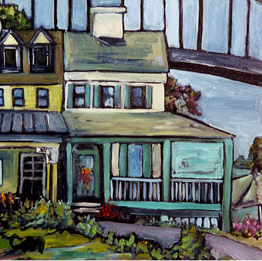 Bayard House In Chesapeake City Painting