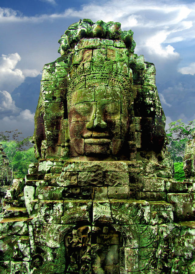 Bayon temple sculpture bayon temple stone faces 4 by mark sellers