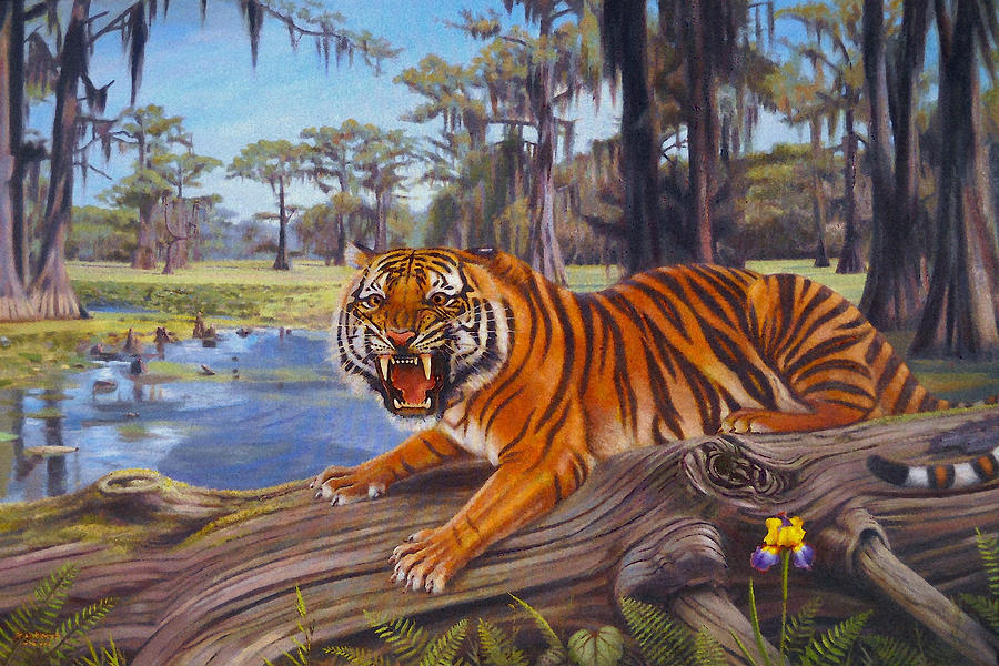 Bayou Mike Painting  - Bayou Mike Fine Art Print