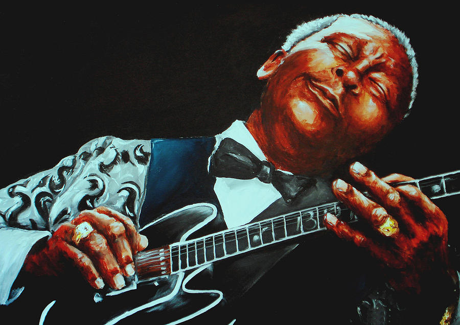 Bb King Of The Blues Painting  - Bb King Of The Blues Fine Art Print