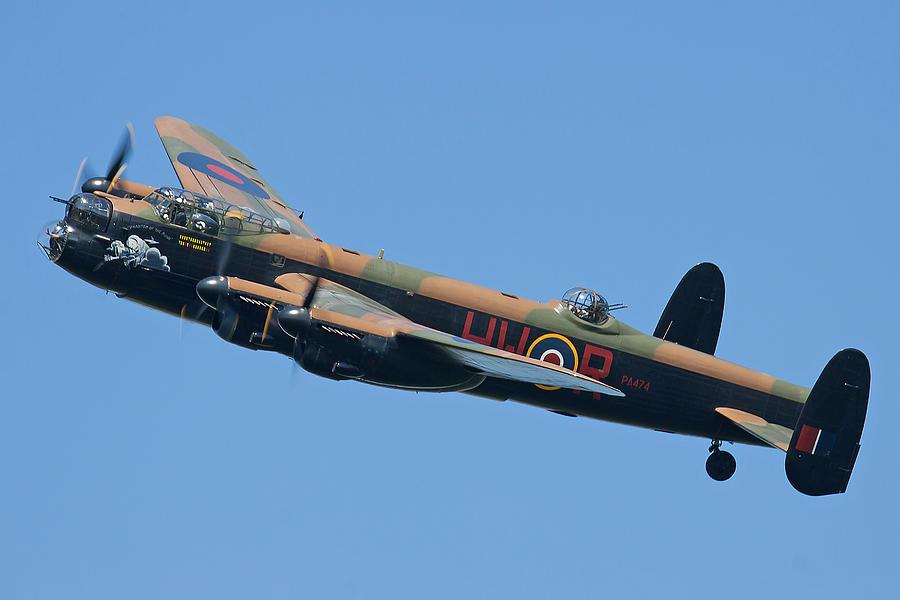 Lancaster Bomber Photograph - Bbmf Lancaster Bomber 2 by Ken Brannen