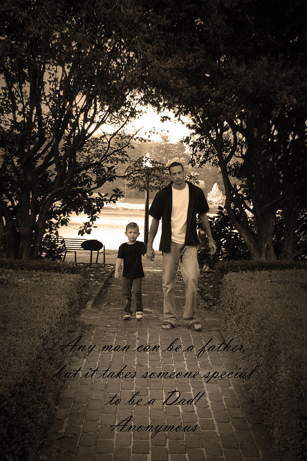 Be A Dad Photograph  - Be A Dad Fine Art Print