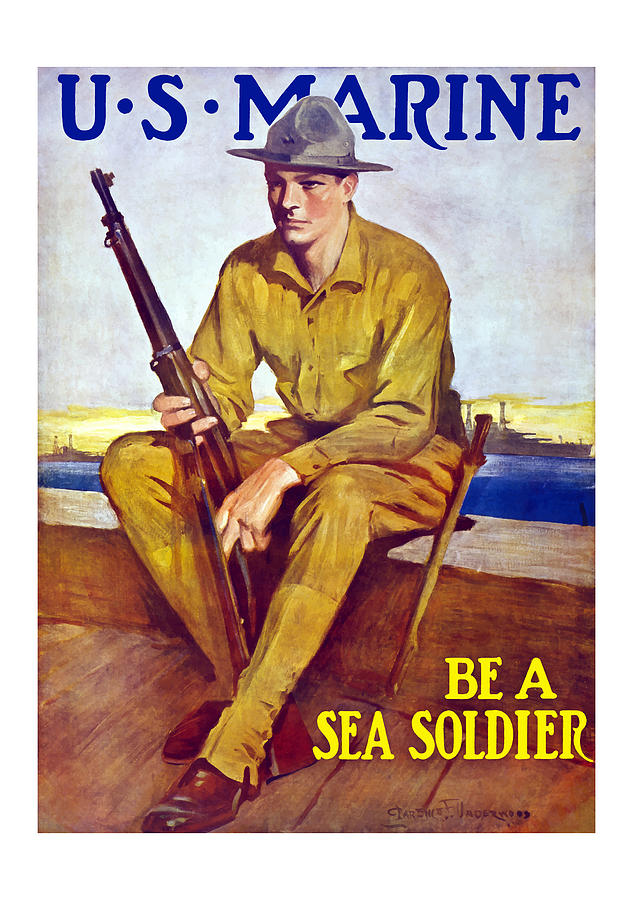 Be A Sea Soldier  Painting  - Be A Sea Soldier  Fine Art Print