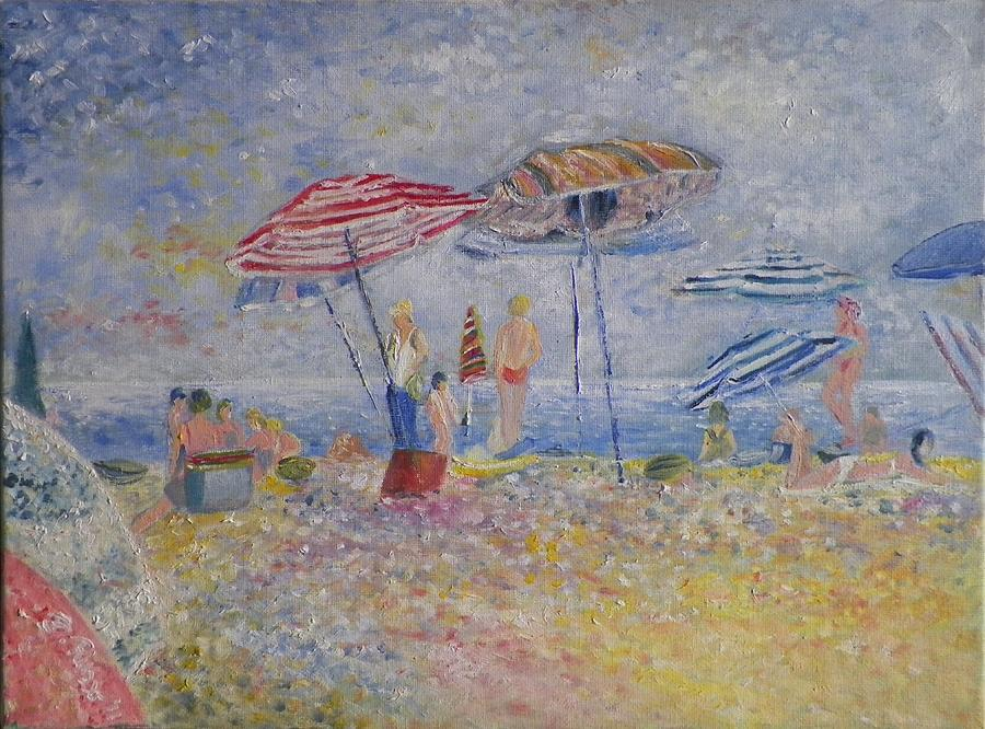 Beach Afternoon Painting  - Beach Afternoon Fine Art Print