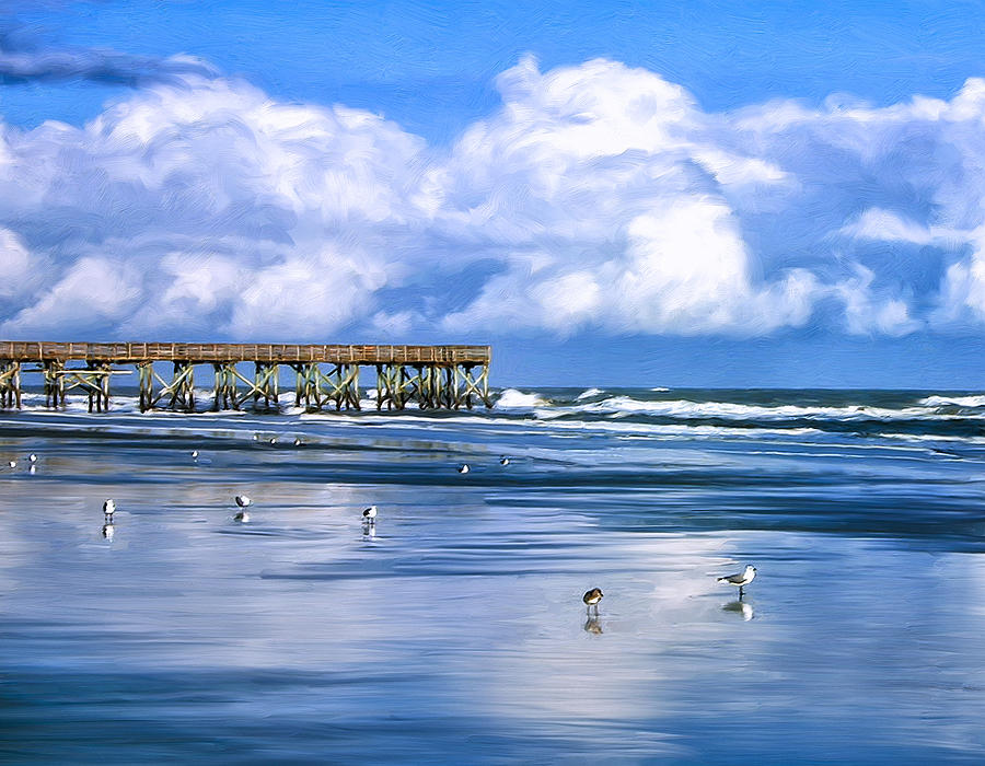 Beach At Isle Of Palms Painting  - Beach At Isle Of Palms Fine Art Print