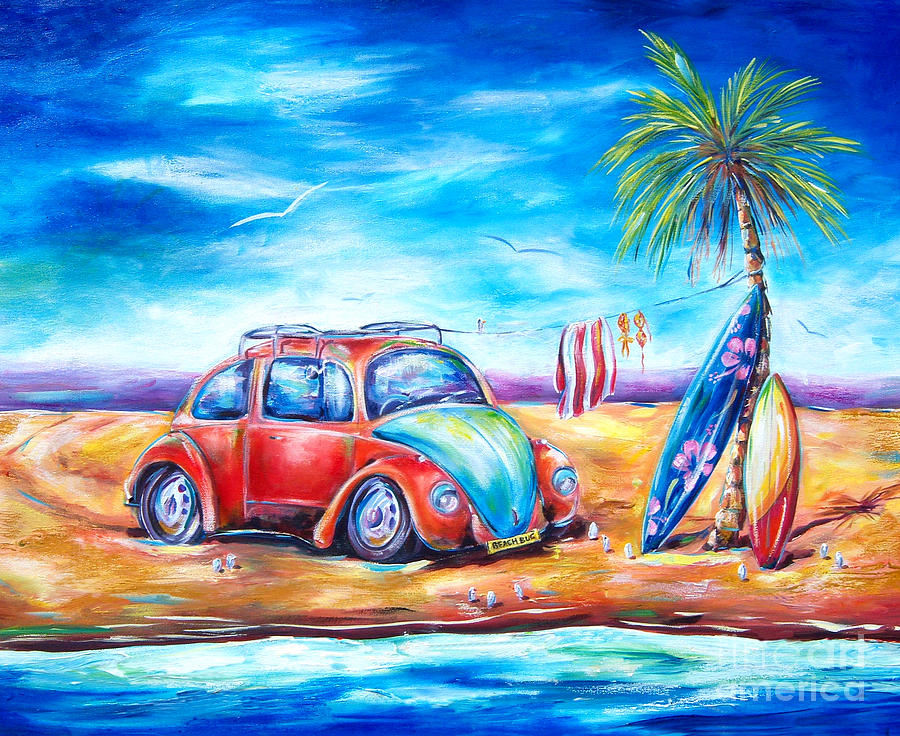 Beach bug by deb broughton for Fine art paintings for sale online