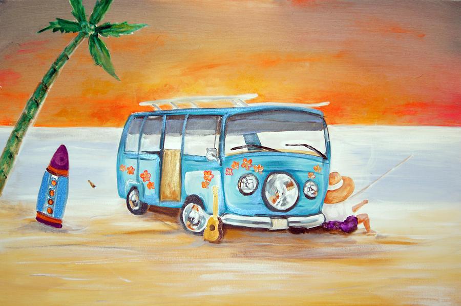 Bug Painting - Beach Bug by Ottoniel Lima Lorinda Fore and Matt Callahan
