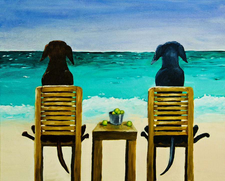 Beach Bums Painting  - Beach Bums Fine Art Print