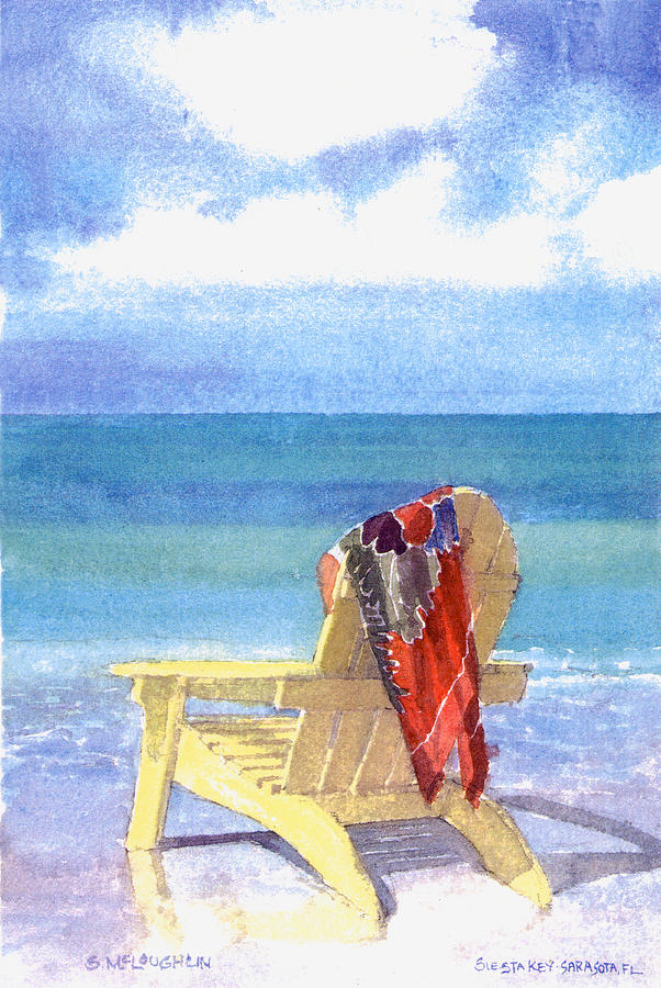 Beach Chair Painting  - Beach Chair Fine Art Print