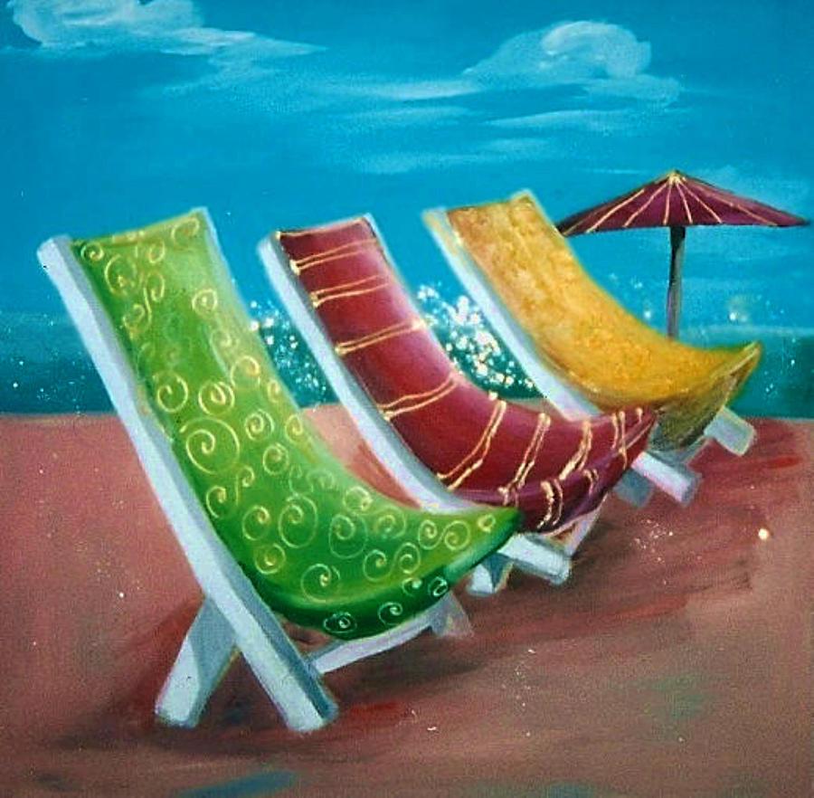 Beach Chairs Painting