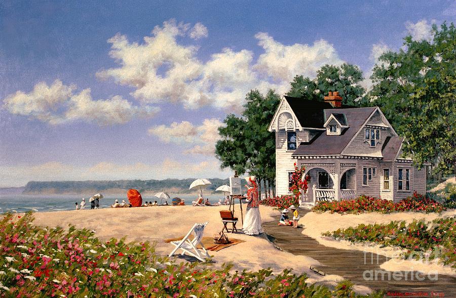 Beach Painting - Beach Days by Michael Swanson