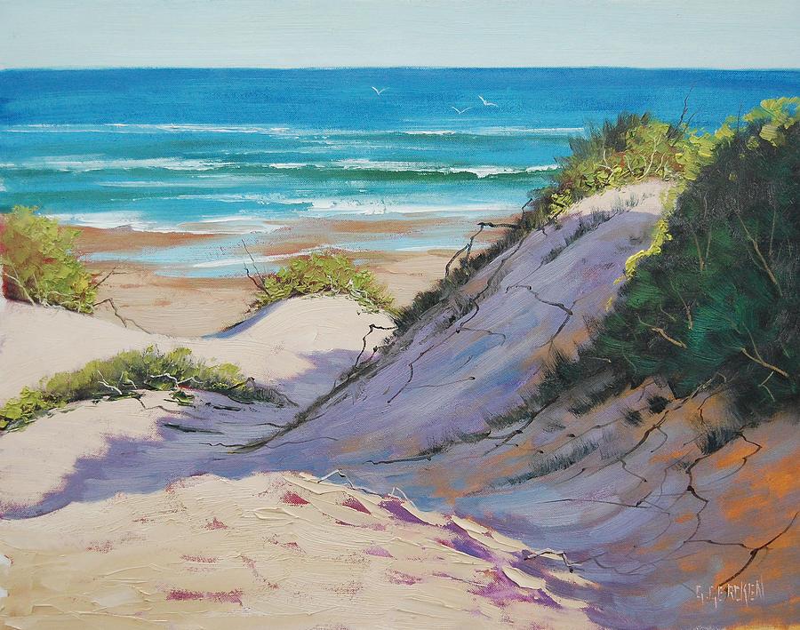 Seascape Painting - Beach Dunes by Graham Gercken