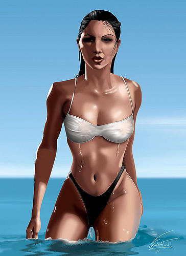 Beach Girl Vi Digital Art