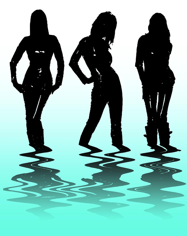 Beach Girls Digital Art