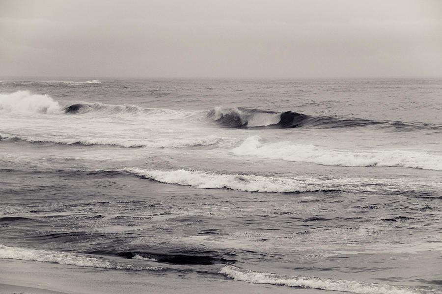 Beach On A Rainy Day Photograph