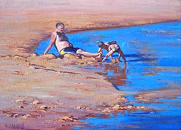 Beach Painting - Beach Play by Graham Gercken
