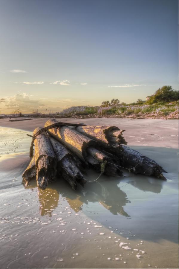 Sunset Photograph - Beach Ruins  by Drew Castelhano