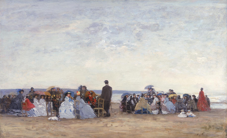 Beach Scene Near Trouville Painting