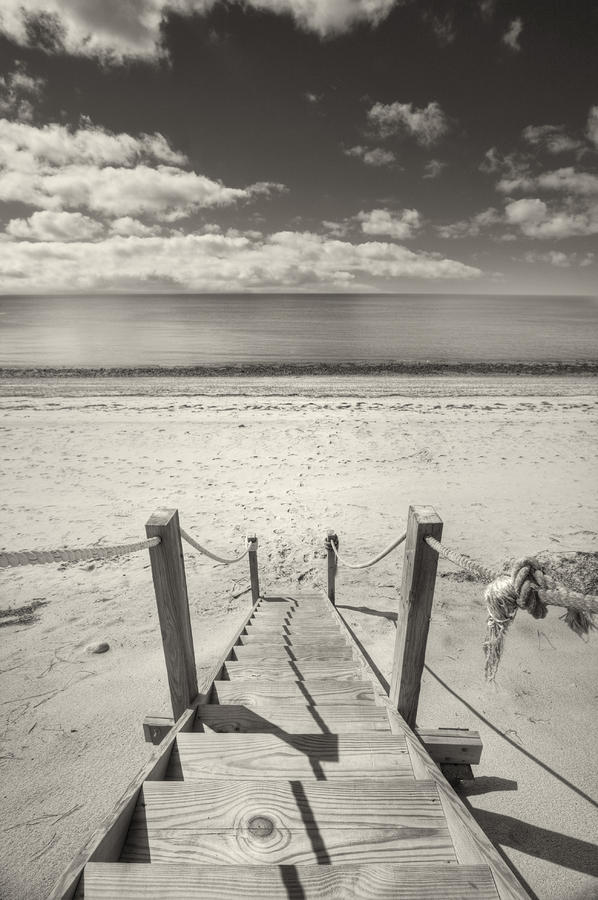 Beach Stairs Wellfleet Photograph  - Beach Stairs Wellfleet Fine Art Print