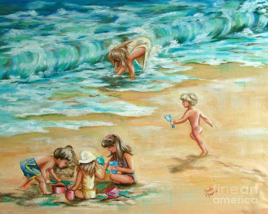 Beach Streaker Painting