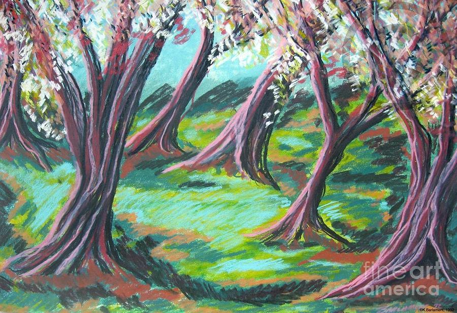 Beach Trees Pastel