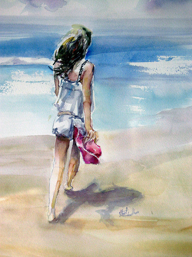 Beach Walk Painting  - Beach Walk Fine Art Print