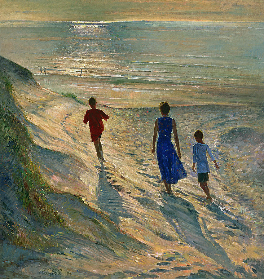 Beach Walk Painting