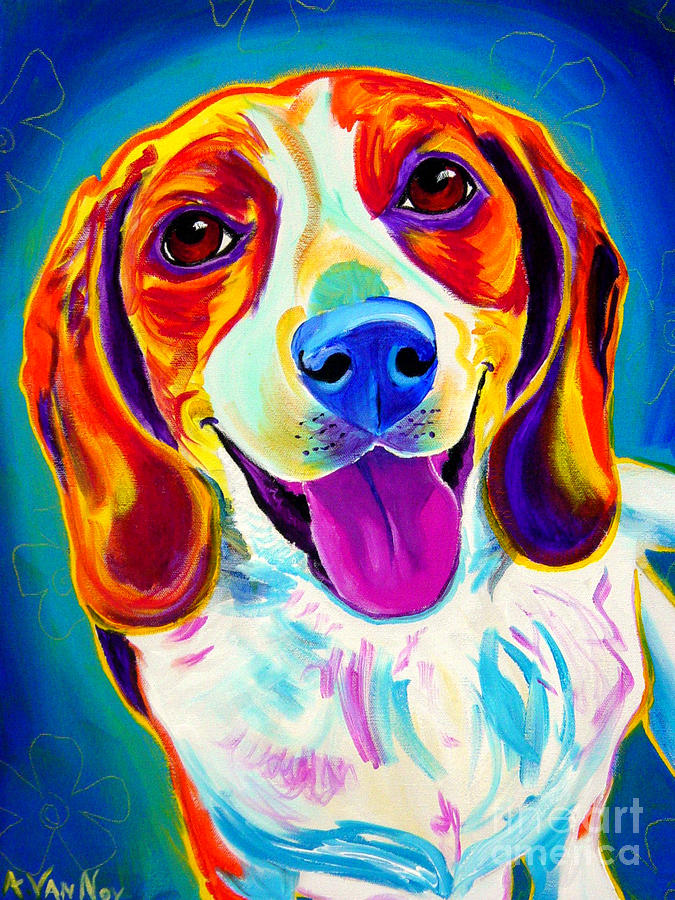 Beagle - Lucy Painting