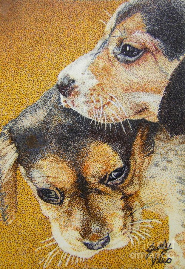 Beagle Puppies Drawing