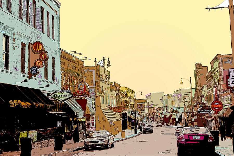 Memphis Tennessee Digital Art - Beale Street by Barry Jones