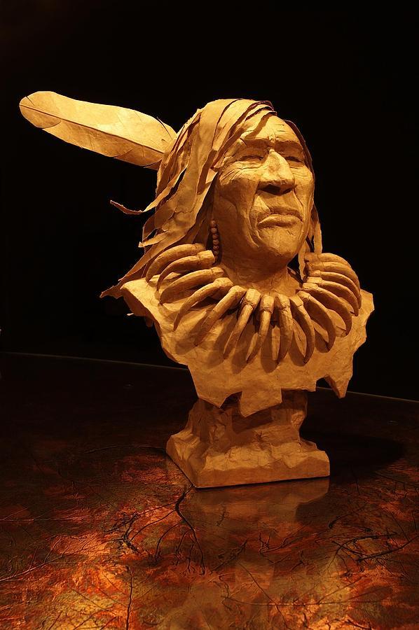 Indian Sculpture - Bear Claw by Monte Burzynski