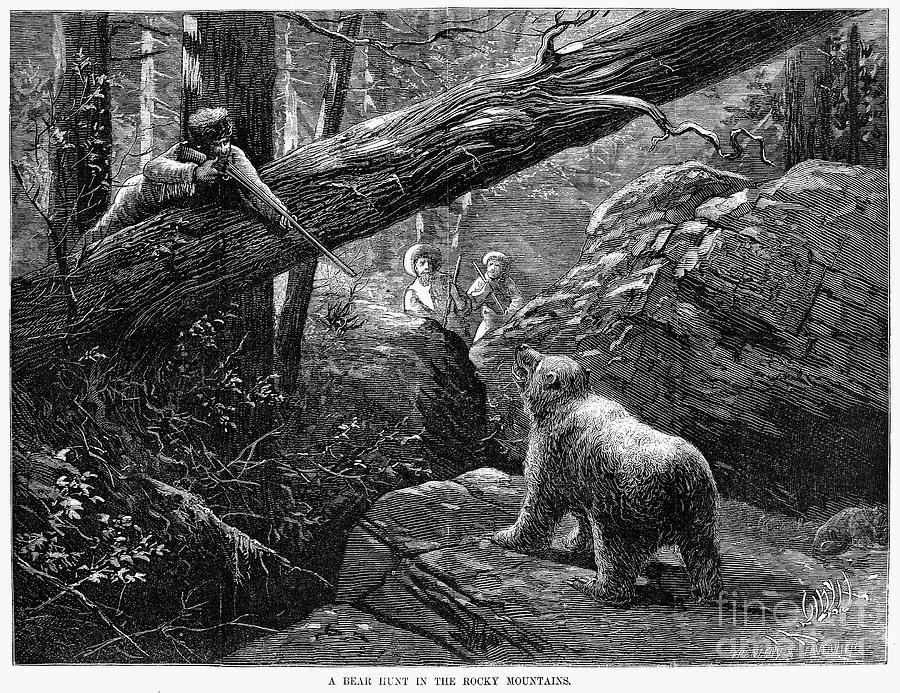 Bear Hunt, 1876 Photograph