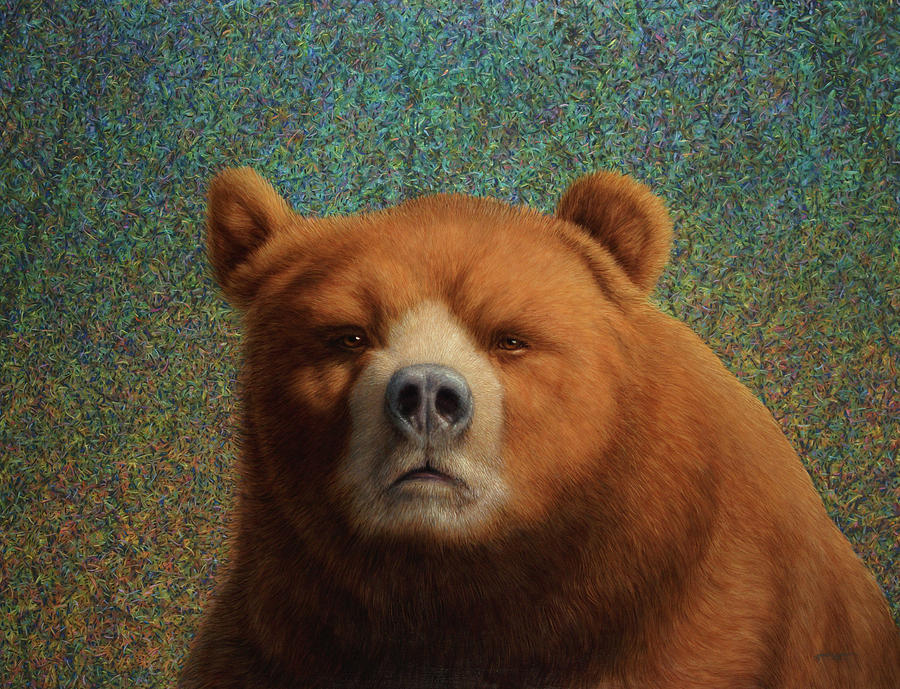 Bearish Painting  - Bearish Fine Art Print