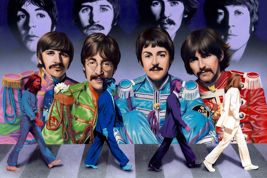 Beatles - Walk Away Painting  - Beatles - Walk Away Fine Art Print
