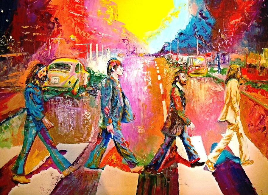 Beatles Abbey Road By Leland Castro