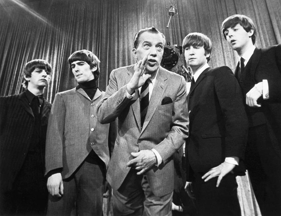 Beatles And Ed Sullivan Photograph  - Beatles And Ed Sullivan Fine Art Print