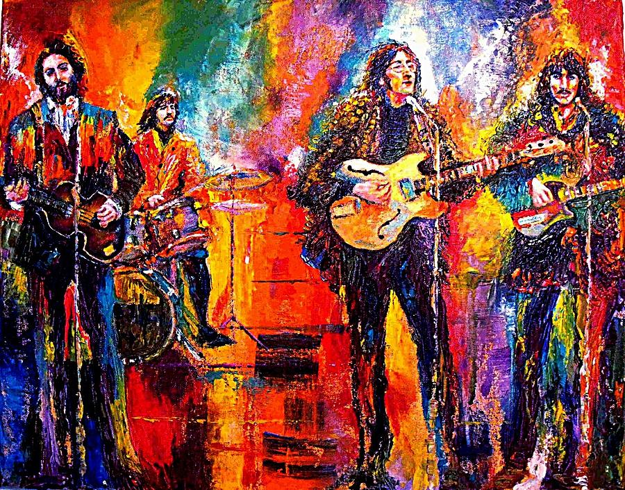 Beatles Last Concert On The Roof Painting  - Beatles Last Concert On The Roof Fine Art Print