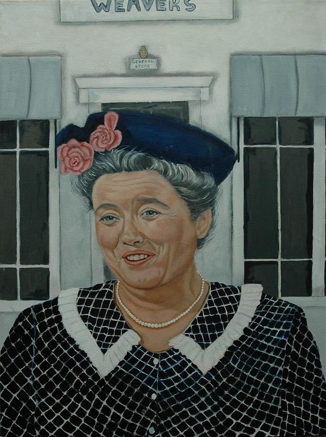 Beatrice Taylor As Aunt Bee Painting  - Beatrice Taylor As Aunt Bee Fine Art Print