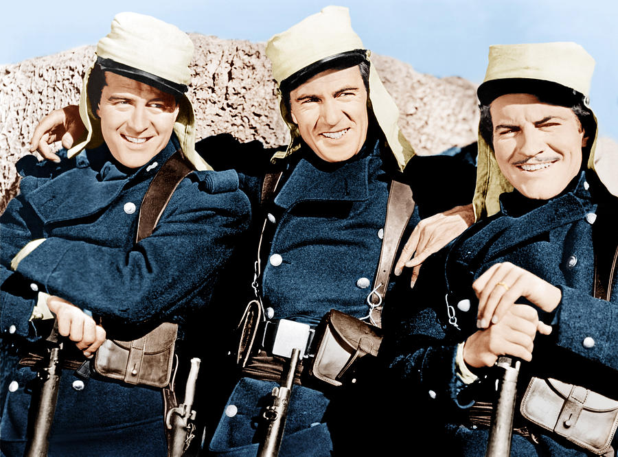 Beau Geste, From Left Ray Milland, Gary Photograph  - Beau Geste, From Left Ray Milland, Gary Fine Art Print
