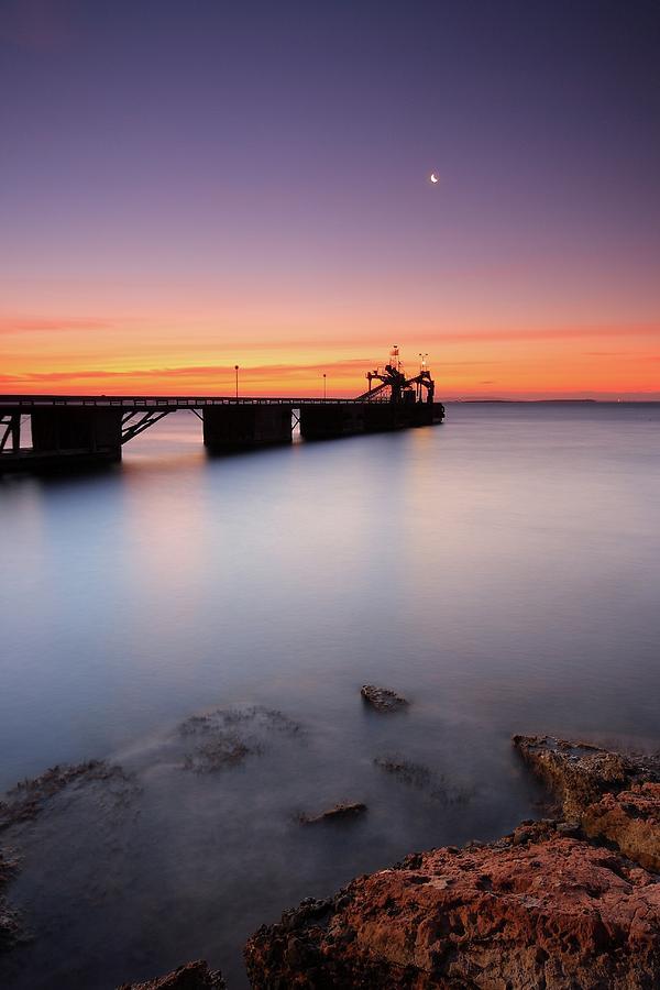 Beautiful Beach And Bridge Photograph