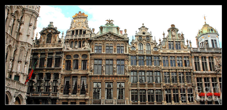 Beautiful Belgian Buildings - Digital Art Photograph  - Beautiful Belgian Buildings - Digital Art Fine Art Print