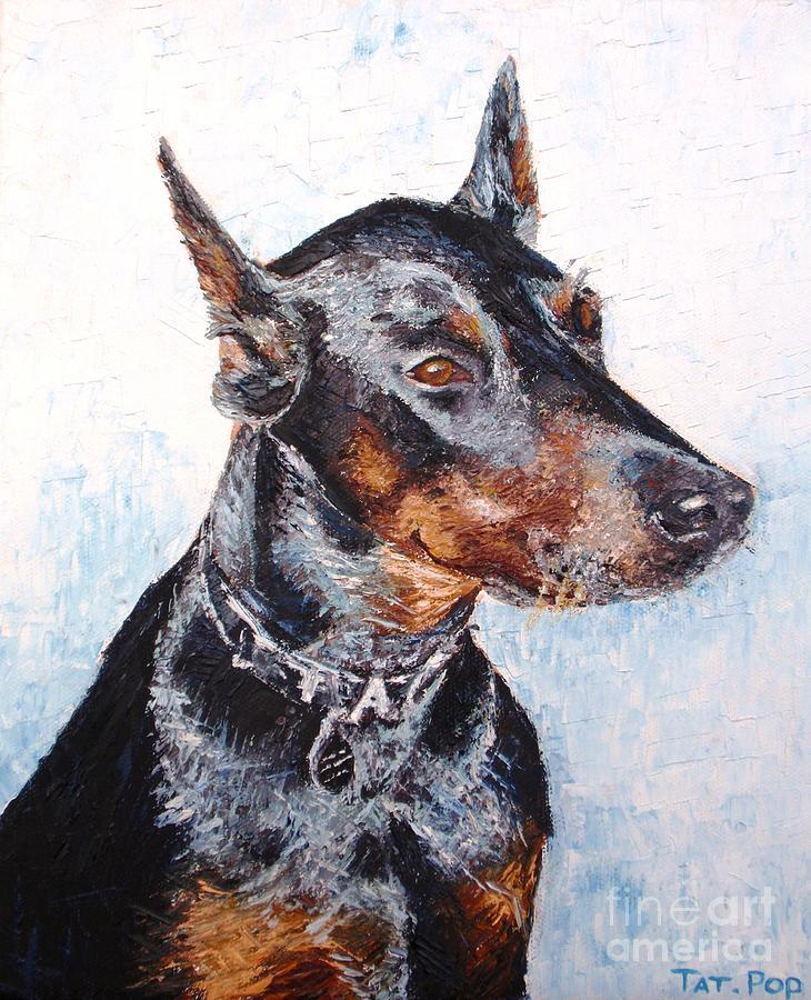 Beautiful Doberman Painting