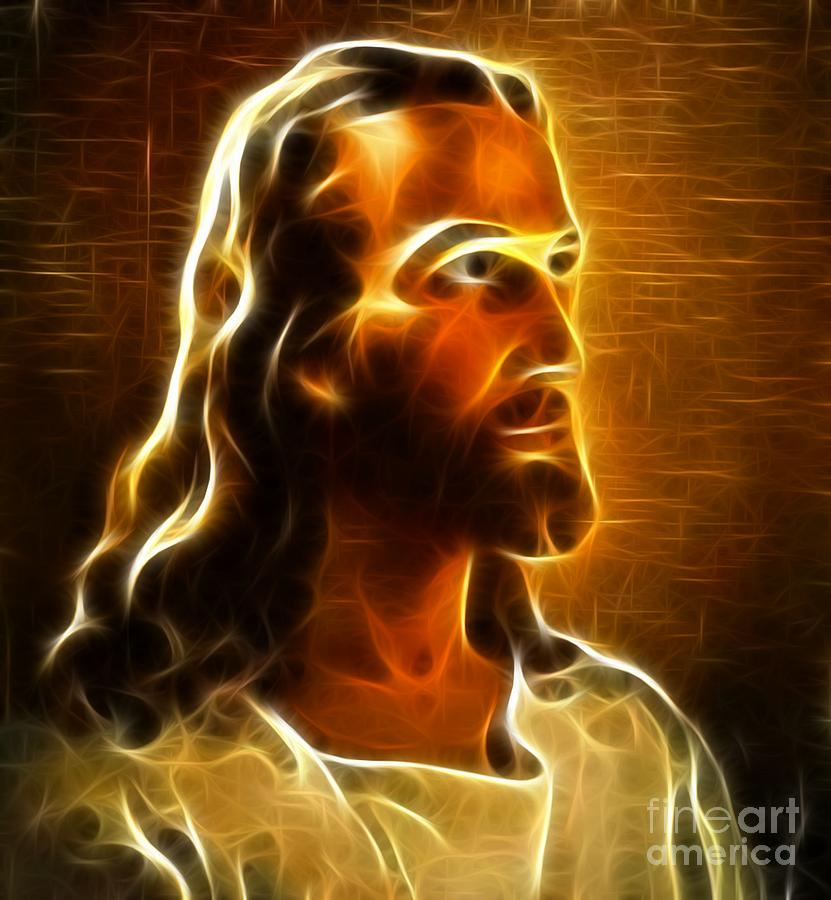 Beautiful Jesus Portrait Mixed Media
