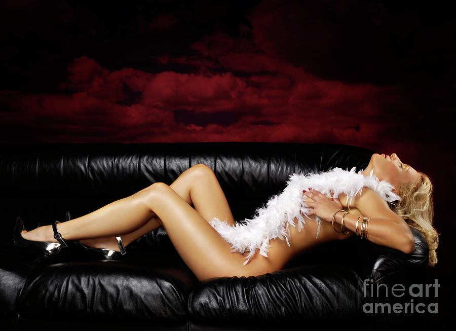 Beautiful Naked Woman On A Couch Photograph  - Beautiful Naked Woman On A Couch Fine Art Print