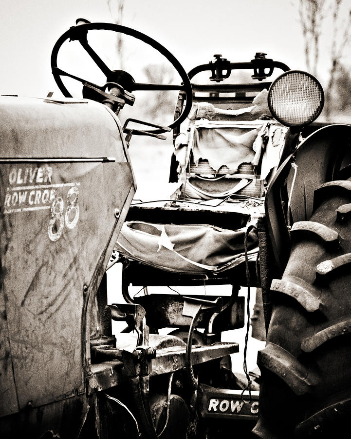 Beautiful Oliver Row Crop Old Tractor Photograph  - Beautiful Oliver Row Crop Old Tractor Fine Art Print