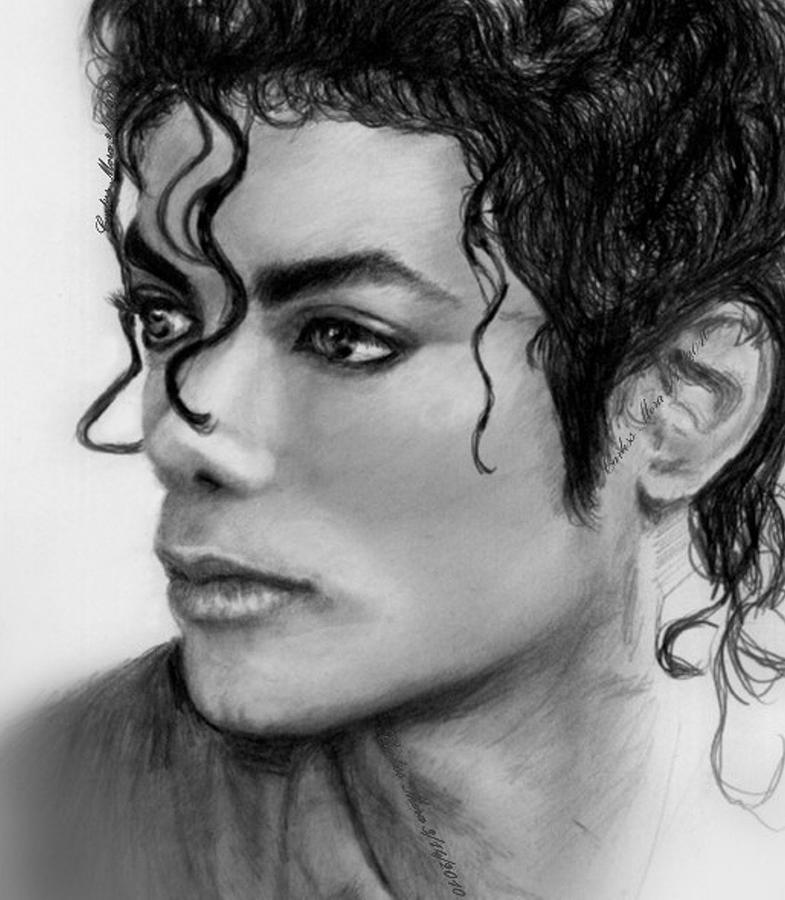 Beautiful Sideview Of Michael Drawing  - Beautiful Sideview Of Michael Fine Art Print